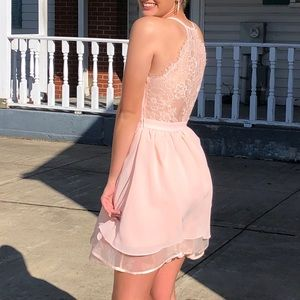 baby pink homecoming dress